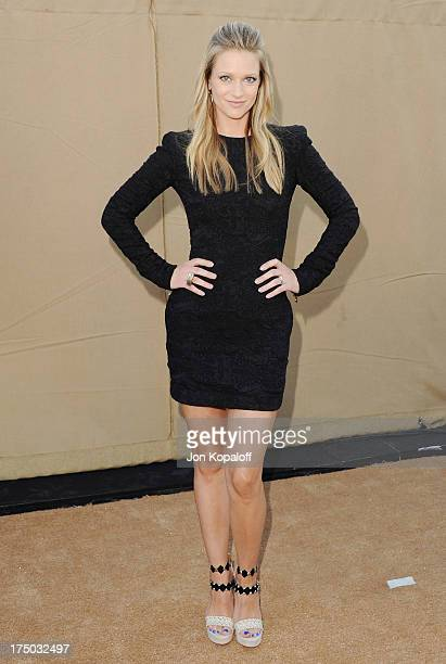 Actress AJ Cook arrives at the 2013 Television Critic Association's Summer Press Tour CBS The CW Showtime Party at The Beverly Hilton Hotel on July...
