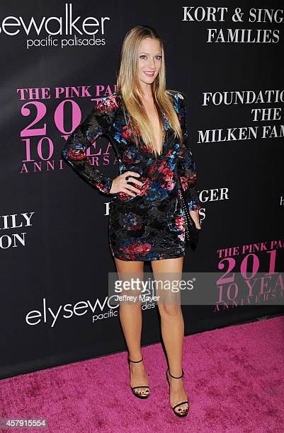 Actress AJ Cook attends Elyse Walker presents the 10th anniversary Pink Party hosted by Jennifer Garner and Rachel Zoe at HANGAR 8 on October 18 2014...