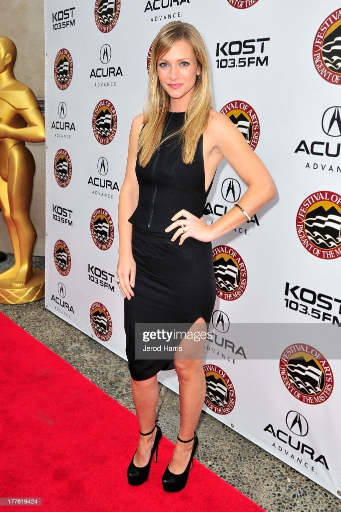 Actress <a gi-track='captionPersonalityLinkClicked' href=/galleries/search?phrase=A.J.+Cook&family=editorial&specificpeople=4246818 ng-click='$event.stopPropagation()'>A.J. Cook</a> attends the Acura/KOST celebrity benefit concert and pageant on August 24, 2013 in Laguna Beach, California.