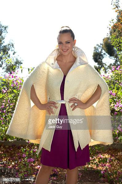 Dress by Foley Corinna cape by Escada earrings and ring by Jason of Beverly Hills Styling by Brenna Egan hair by John Ruggiero makeup by Bryin Smoot