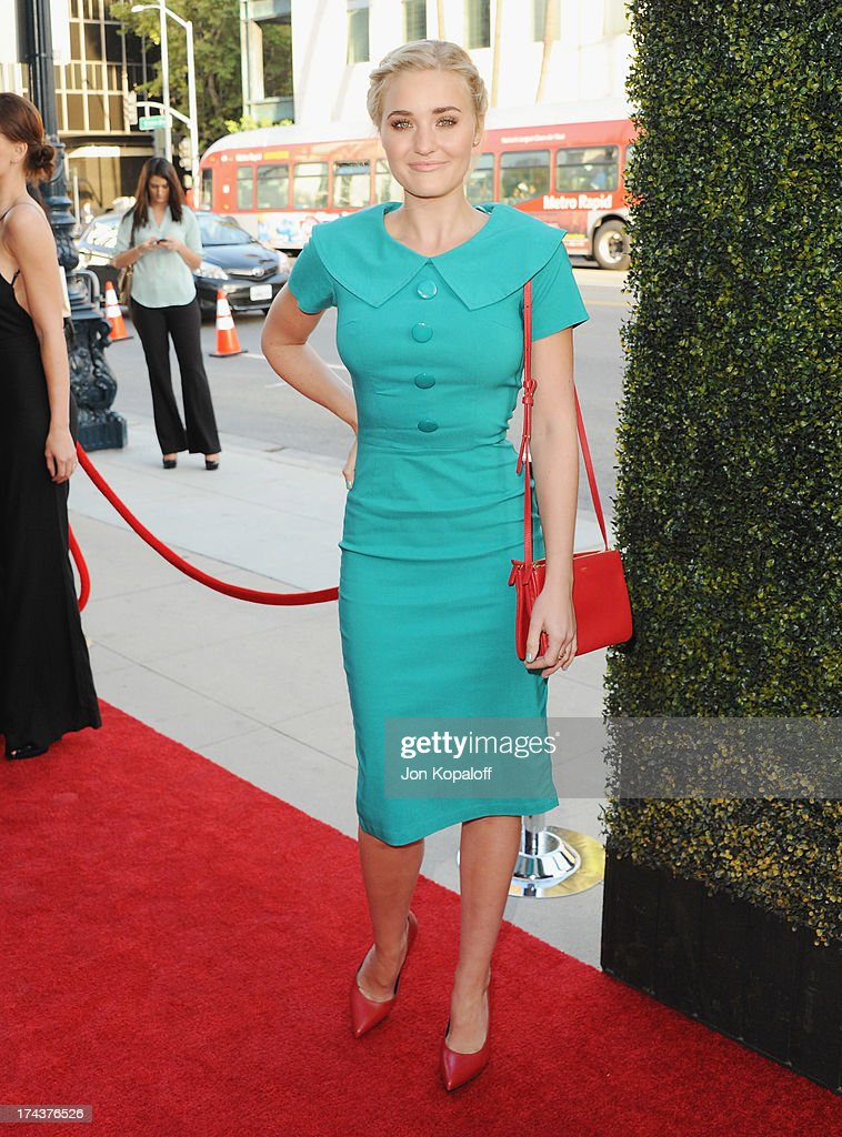 Actress AJ Michalka arrives at the Los Angeles Premiere 'Blue Jasmine' at the Academy of Motion Picture Arts and Sciences on July 24, 2013 in Beverly Hills, California.