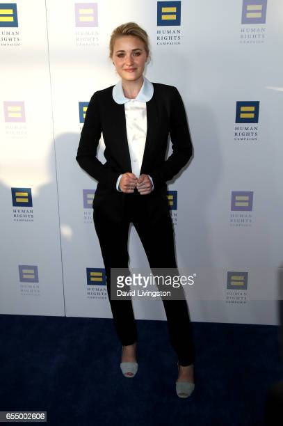 Actress AJ Michalka attends the Human Rights Campaign's 2017 Los Angeles Gala Dinner at JW Marriott Los Angeles at LA LIVE on March 18 2017 in Los...