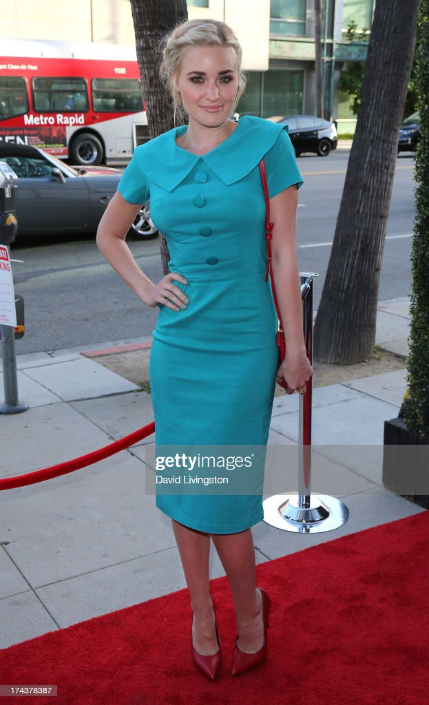 Actress AJ Michalka attends the premiere of 'Blue Jasmine' hosted by the AFI & Sony Picture Classics at the AMPAS Samuel Goldwyn Theater on July 24, 2013 in Beverly Hills, California.