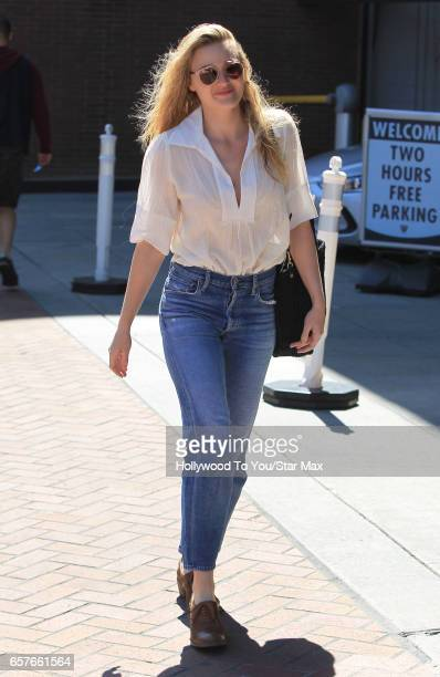Actress AJ Michalka is seen on March 24 2017 in Los Angeles California