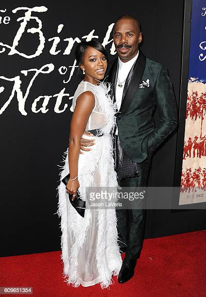 Actress Aja Naomi King and actor Colman Domingo attend the premiere of 'The Birth of a Nation' at ArcLight Cinemas Cinerama Dome on September 21 2016...