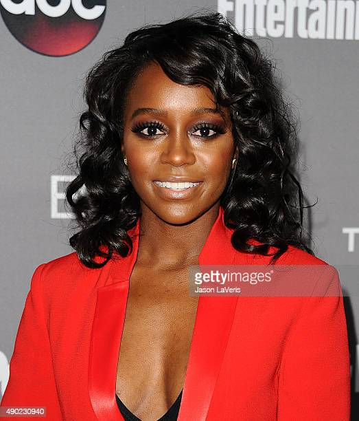 Actress Aja Naomi King attends ABC's TGIT premiere event on September 26 2015 in West Hollywood California