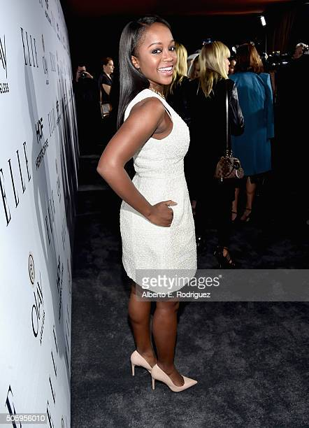 Actress Aja Naomi King attends ELLE's 6th Annual Women in Television Dinner Presented by Hearts on Fire Diamonds and Olay at Sunset Tower on January...