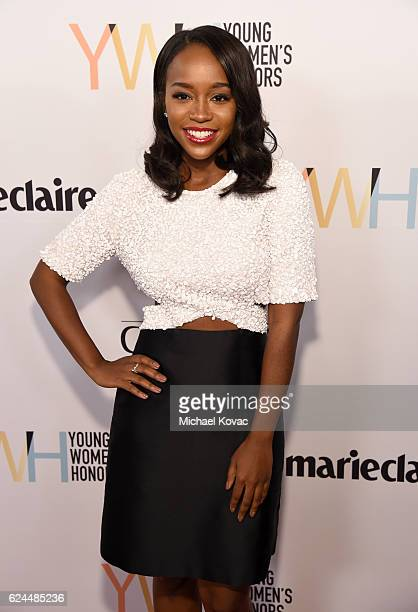 Actress Aja Naomi King attends Moet Chandon Celebrates The 2016 Young Women's Honors at Marina del Rey Marriott on November 19 2016 in Marina del Rey...