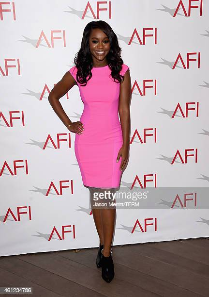 Actress Aja Naomi King attends the 15th Annual AFI Awards at Four Seasons Hotel Los Angeles at Beverly Hills on January 9 2015 in Beverly Hills...