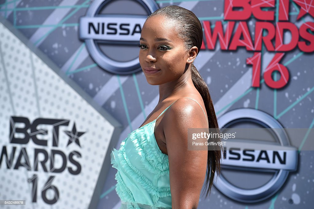 Actress <a gi-track='captionPersonalityLinkClicked' href=/galleries/search?phrase=Aja+Naomi+King&family=editorial&specificpeople=9333659 ng-click='$event.stopPropagation()'>Aja Naomi King</a> attends the 2016 BET Awards at the Microsoft Theater on June 26, 2016 in Los Angeles, California.