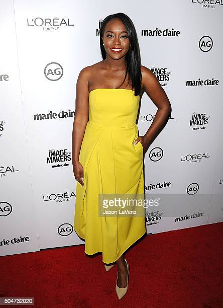 Actress Aja Naomi King attends the 2016 Marie Claire Image Maker Awards at Chateau Marmont on January 12 2016 in Los Angeles California