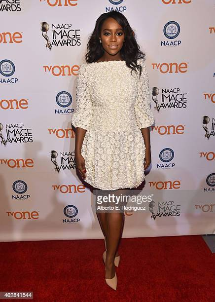 Actress Aja Naomi King attends the 46th NAACP Image Awards NonTelevised Awards Ceremony at Pasadena Convention Center on February 5 2015 in Pasadena...