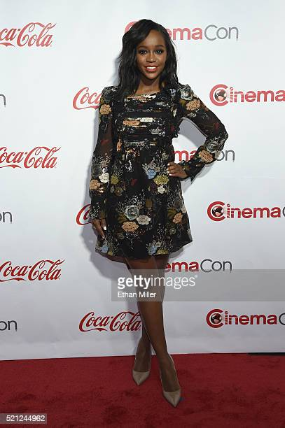 Actress Aja Naomi King attends the CinemaCon Big Screen Achievement Awards brought to you by the CocaCola Company at Omnia Nightclub at Caesars...