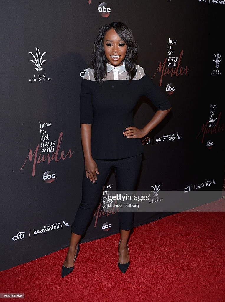 Premiere of abcs actress aja naomi king attends the premiere of season 3 of abcs how to get ccuart Images