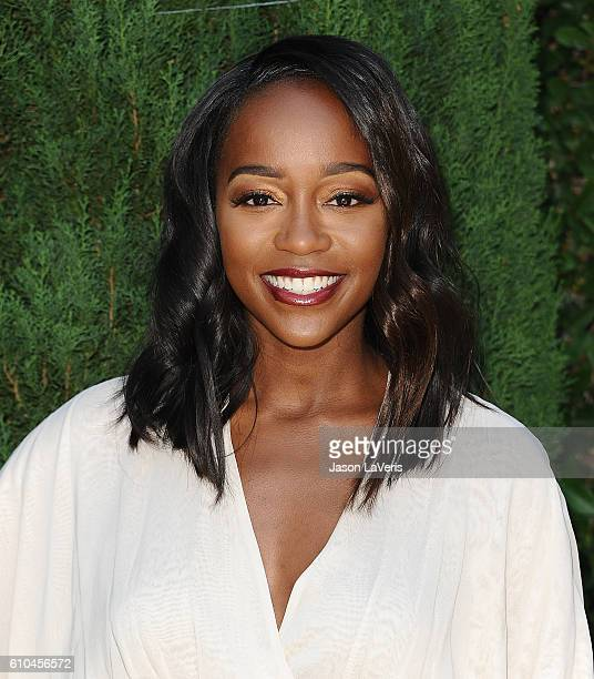 Actress Aja Naomi King attends the Rape Foundation's annual brunch on September 25 2016 in Beverly Hills California