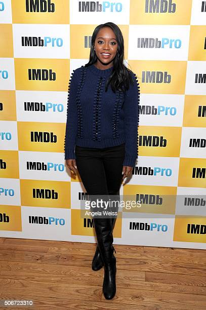 Actress Aja Naomi King in The IMDb Studio In Park City Utah Day Four on January 25 2016 in Park City Utah