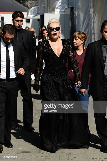 Actress Ajda Pekkan attends MercedesBenz Fashion Week Istanbul s/s 2014 presented by American Express on October 10 2013 in Istanbul Turkey