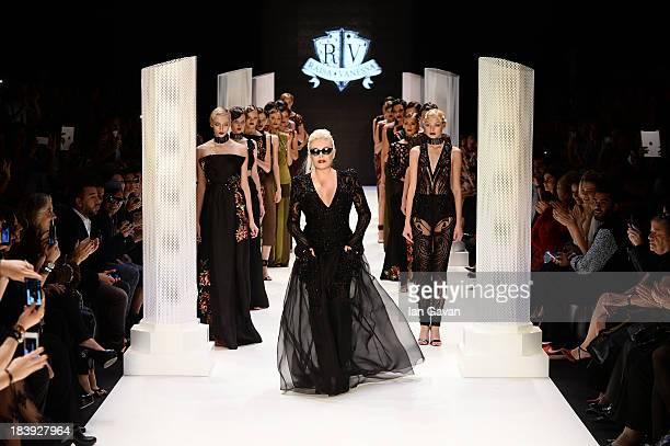 Actress Ajda Pekkan walks the runway at the RaisaVanessa Sason show during MercedesBenz Fashion Week Istanbul s/s 2014 Presented By American Express...