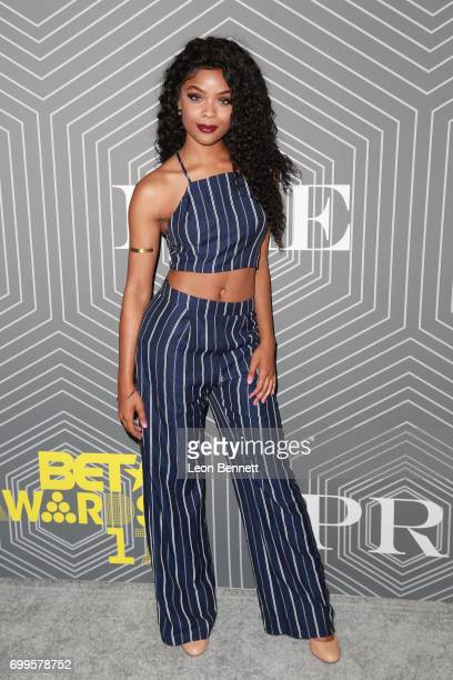 Actress Ajiona Alexus arrived at the 2017 BET Awards 'PRE' at The London West Hollywood on June 21 2017 in West Hollywood California