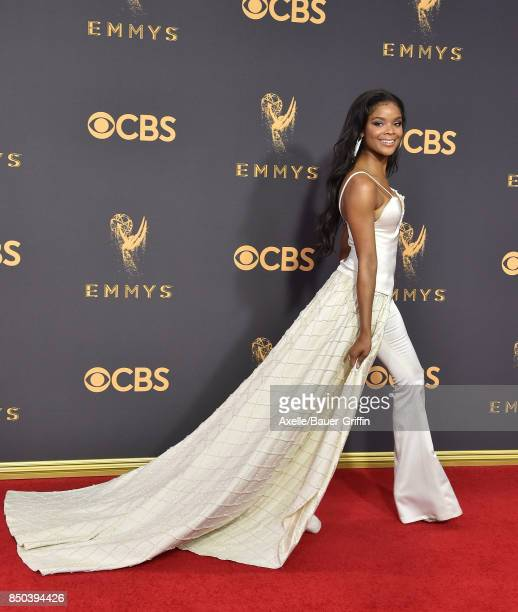 Actress Ajiona Alexus arrives at the 69th Annual Primetime Emmy Awards at Microsoft Theater on September 17 2017 in Los Angeles California