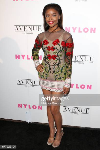 Actress Ajiona Alexus attends NYLON's Annual Young Hollywood May Issue Event at Avenue on May 2 2017 in Los Angeles California