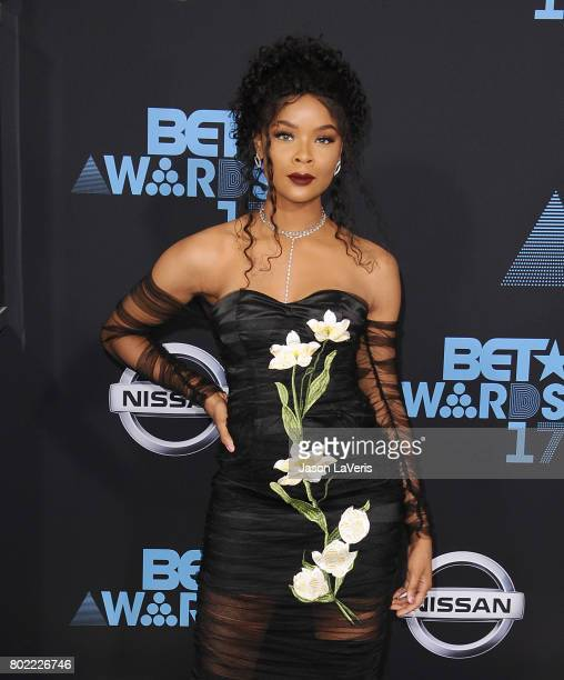 Actress Ajiona Alexus attends the 2017 BET Awards at Microsoft Theater on June 25 2017 in Los Angeles California