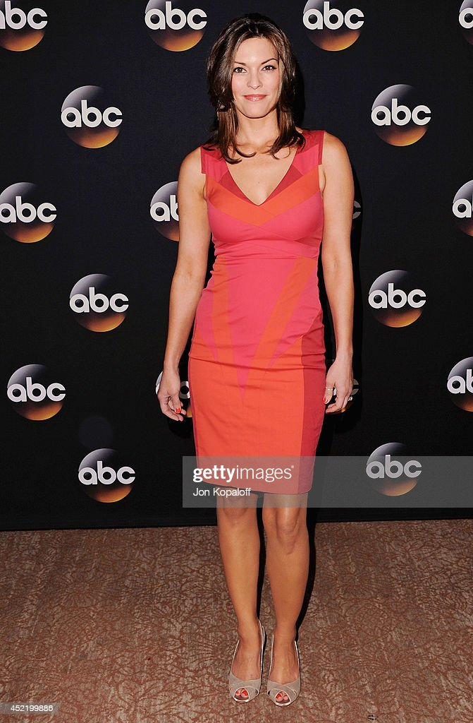 Actress <a gi-track='captionPersonalityLinkClicked' href=/galleries/search?phrase=Alana+De+La+Garza&family=editorial&specificpeople=171149 ng-click='$event.stopPropagation()'>Alana De La Garza</a> arrives the Disney|ABC Television Group 2014 Television Critics Association Summer Press Tour at The Beverly Hilton Hotel on July 15, 2014 in Beverly Hills, California.