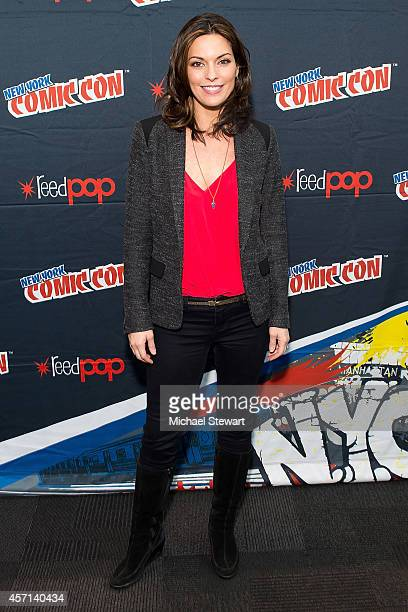 Actress Alana De La Garza attends ABC Network's 'Forever' press room at 2014 New York Comic Con Day 4 at Jacob Javitz Center on October 12 2014 in...