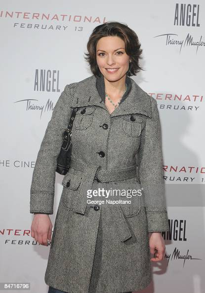 Actress Alana De La Garza attends the Cinema Society and Angel by Thierry Mugler screening of 'The International' at AMC Lincoln Square on February 9...