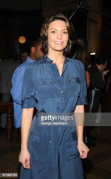 Actress Alana De La Garza attends the 'Law Order' 20th Season kickoff celebration at the Law Order Studio At Chelsea Piers on September 23 2009 in...