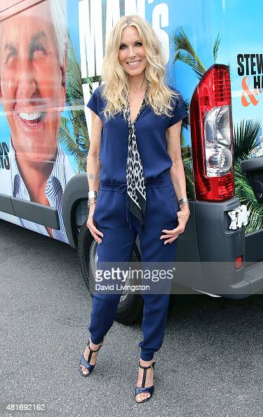 Actress Alana Stewart attends E's 'Tan Man's Van' photo op at The Grove on July 23 2015 in Los Angeles California