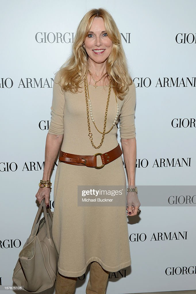 Actress Alana Stewart attends the Giorgio Armani Beauty Luncheon on December 6, 2012 in Beverly Hills, California.