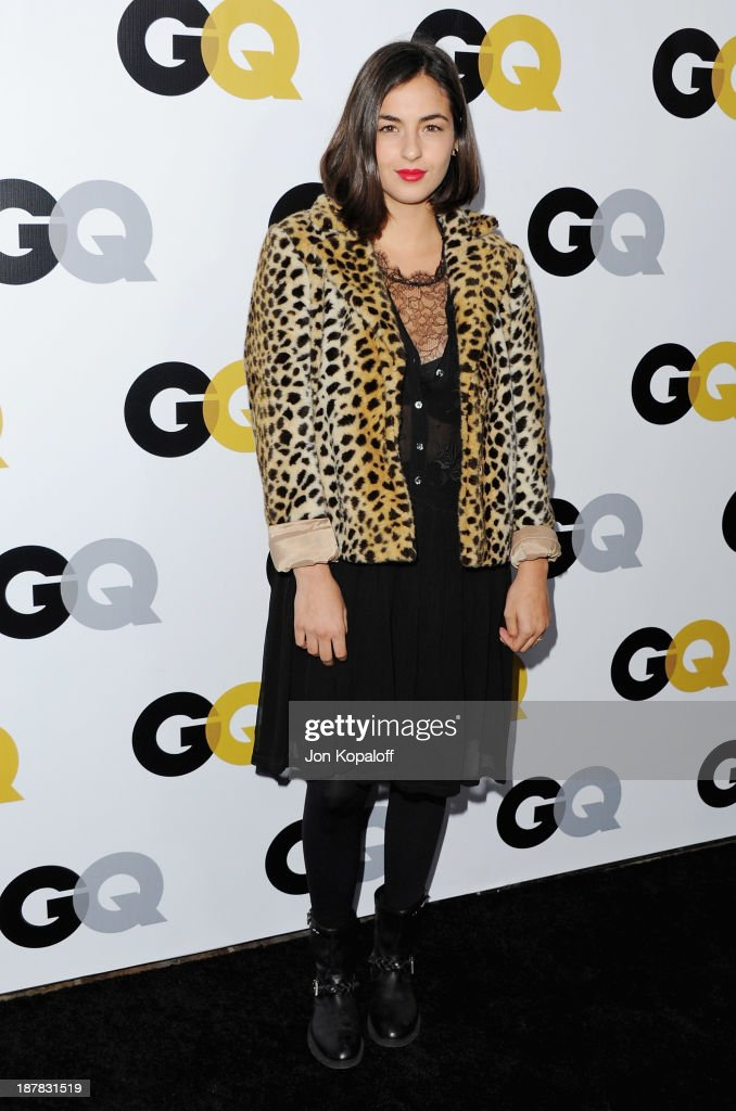 Actress Alanna Masterson arrives at GQ Celebrates The 2013 'Men Of The Year' at The Wilshire Ebell Theatre on November 12, 2013 in Los Angeles, California.