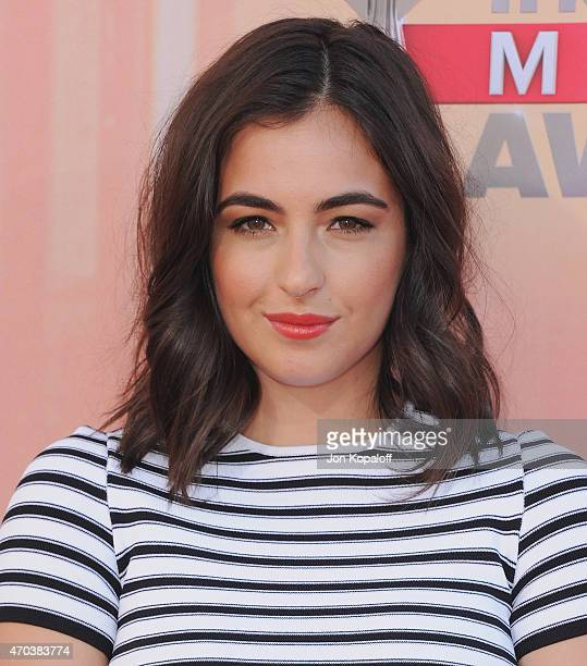 Actress Alanna Masterson arrives at the 2015 iHeartRadio Music Awards at The Shrine Auditorium on March 29 2015 in Los Angeles California