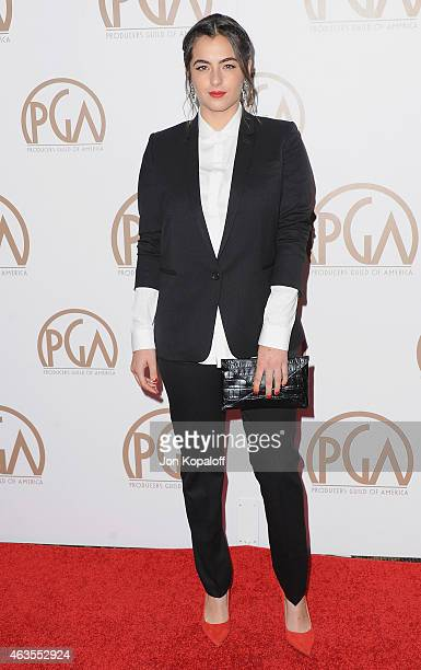 Actress Alanna Masterson arrives at the 26th Annual PGA Awards at the Hyatt Regency Century Plaza on January 24 2015 in Los Angeles California
