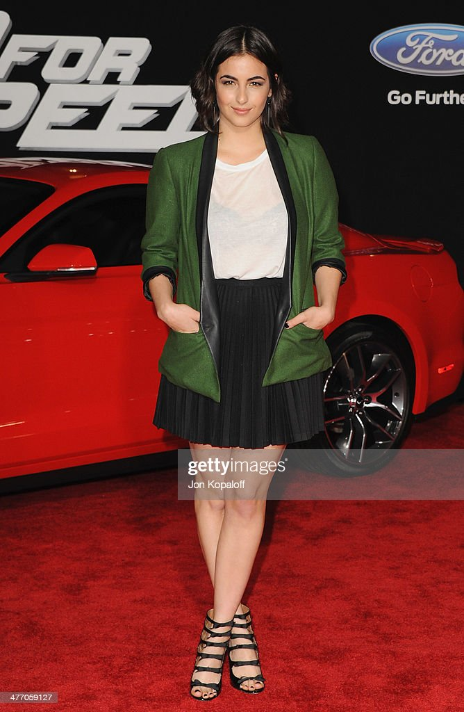 Actress Alanna Masterson arrives at the Los Angeles Premiere 'Need For Speed' at TCL Chinese Theatre on March 6, 2014 in Hollywood, California.