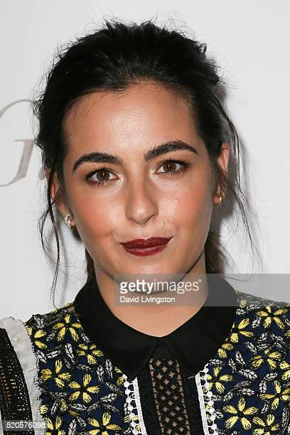 Actress Alanna Masterson arrives at the Marie Claire Fresh Faces Party at the Sunset Tower Hotel on April 11 2016 in West Hollywood California