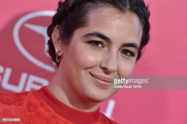 Actress Alanna Masterson arrives at the premiere of 'Baby Driver' at Ace Hotel on June 14 2017 in Los Angeles California