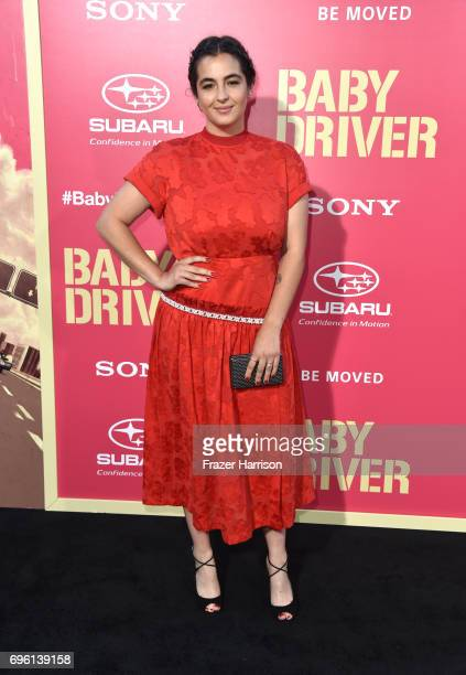 Actress Alanna Masterson arrives at the Premiere of Sony Pictures' 'Baby Driver' at Ace Hotel on June 14 2017 in Los Angeles California