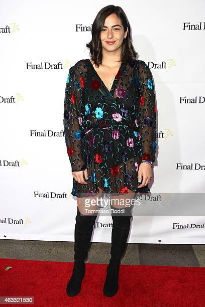 Actress Alanna Masterson attends the 10th Annual Final Draft Awards held at Paramount Theater on the Paramount Studios lot on February 12 2015 in...