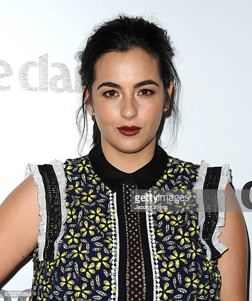 Actress Alanna Masterson attends the Marie Claire Fresh Faces party at Sunset Tower Hotel on April 11 2016 in West Hollywood California