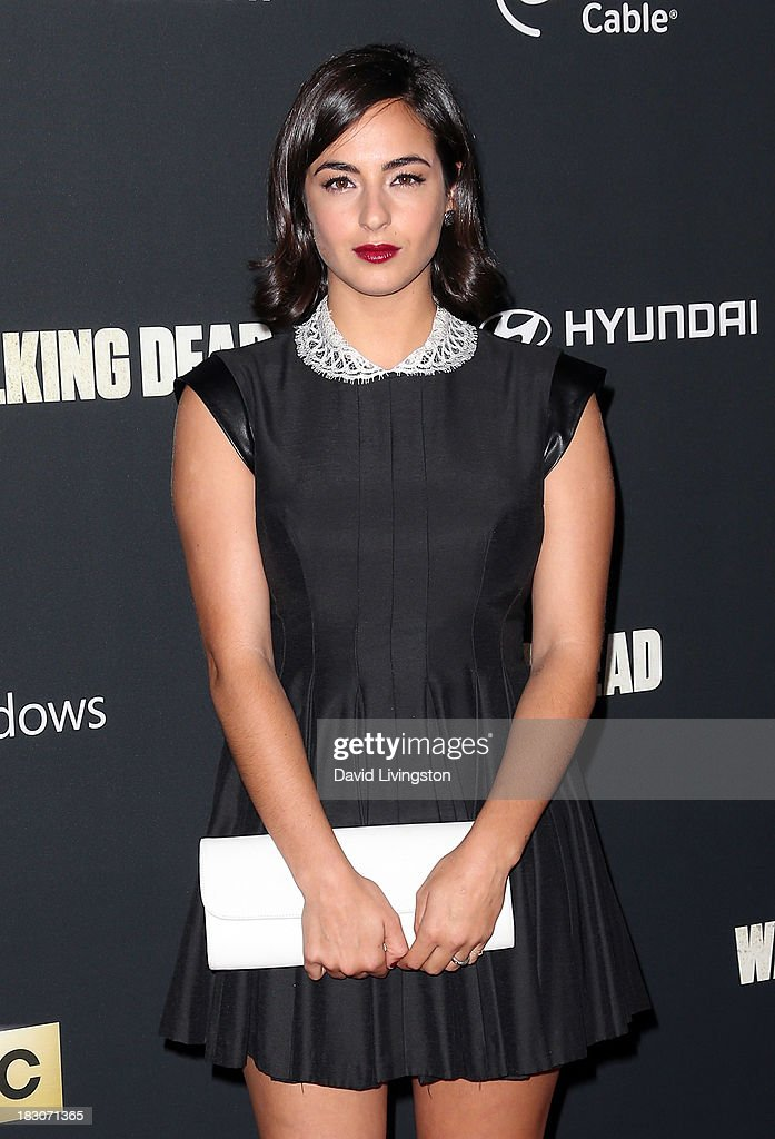 Actress Alanna Masterson attends the premiere of AMC's 'The Walking Dead' 4th Season at Universal CityWalk on October 3 2013 in Universal City...