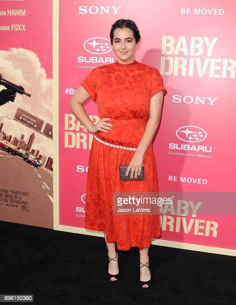 Actress Alanna Masterson attends the premiere of 'Baby Driver' at Ace Hotel on June 14 2017 in Los Angeles California