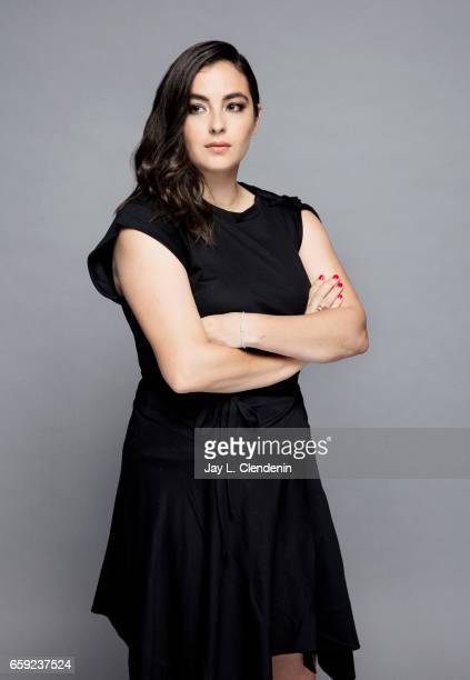 Actress Alanna Masterson from AMC's 'The Walking Dead is photographed during Paley Fest for Los Angeles Times on March 17 2017 in Los Angeles...