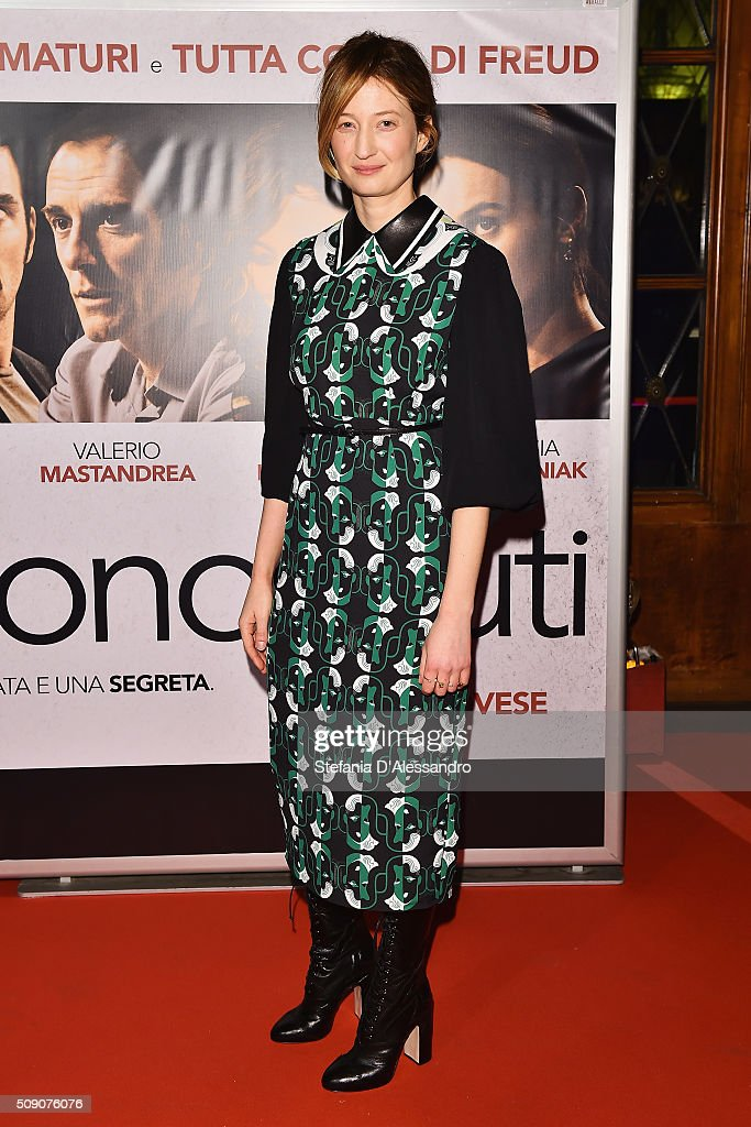 Actress Alba Rohrwacher attends 'Perfetti Sconosciuti' Premiere held at Odeon Cinema on February 8, 2016 in Milan, Italy.
