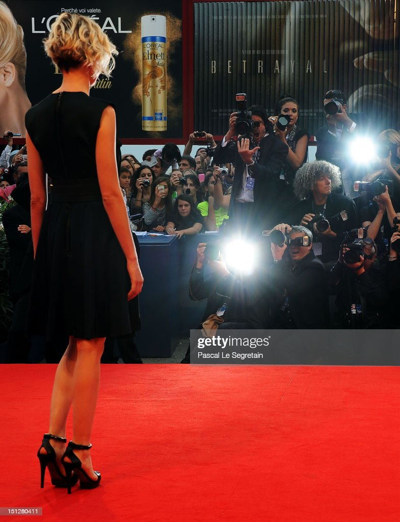 Actress Alba Rohrwacher attends the 'Bella Addormentata' Premiere during The 69th Venice Film Festival at the Palazzo del Cinema on September 5, 2012 in Venice, Italy.