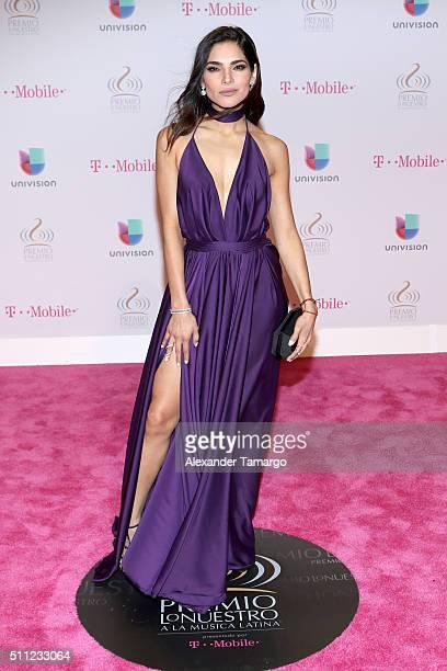 Actress Alejandra Espinoza attends Univision's 28th Edition of Premio Lo Nuestro A La Musica Latina on February 18 2016 in Miami Florida