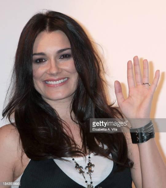 Actress Alena Seredova attends 'La Valigia Sul Letto' photocall at Casa del Cinema on March 9 2010 in Rome Italy