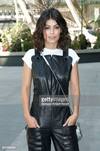 Actress Alessandra Mastronardi attend the Chanel Haute Couture Fall/Winter 20172018 show as part of Haute Couture Paris Fashion Week on July 4 2017...
