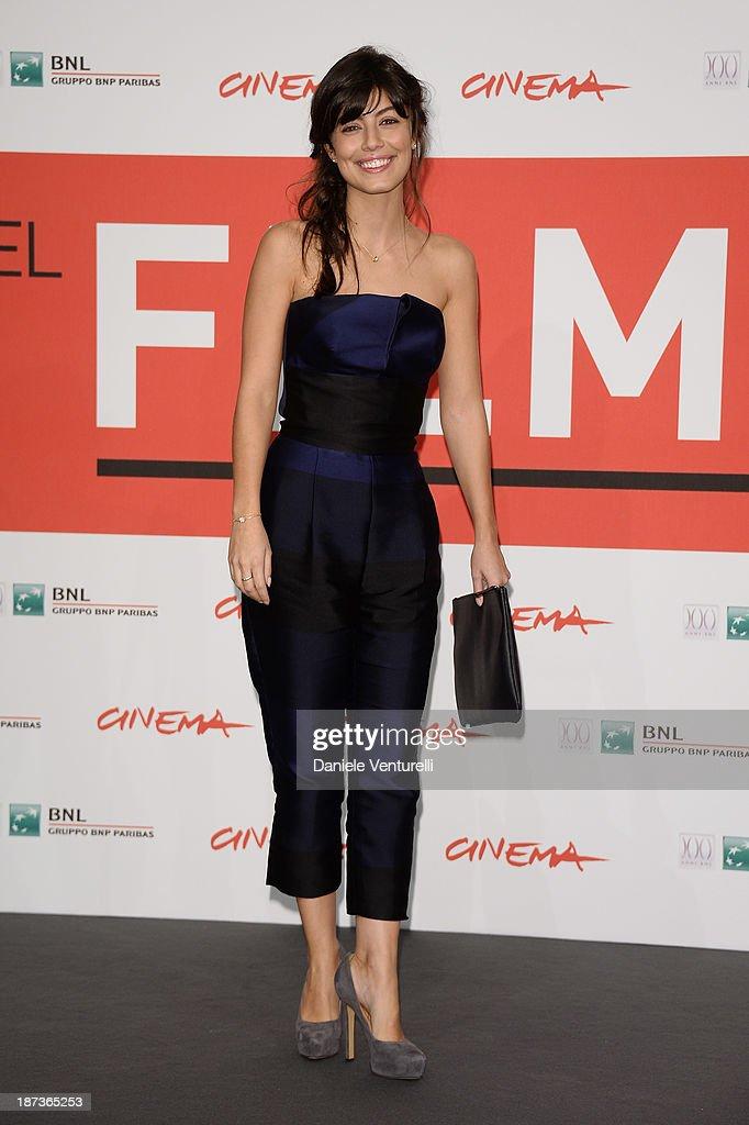 Actress Alessandra Mastronardi attends the 'L'Ultima Ruota Del Carro' Photocall during the 8th Rome Film Festival at the Auditorium Parco Della...